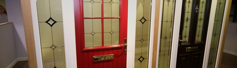 Front doors birmingham composite upvc front door for Exterior back door with window