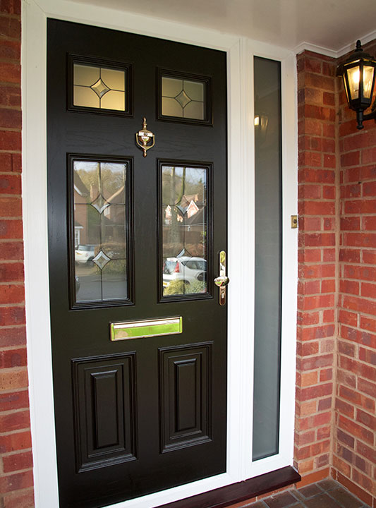 Front Door Black and Gold