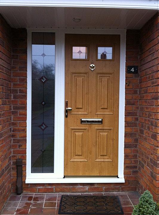 Front Door Brown and Gold 2