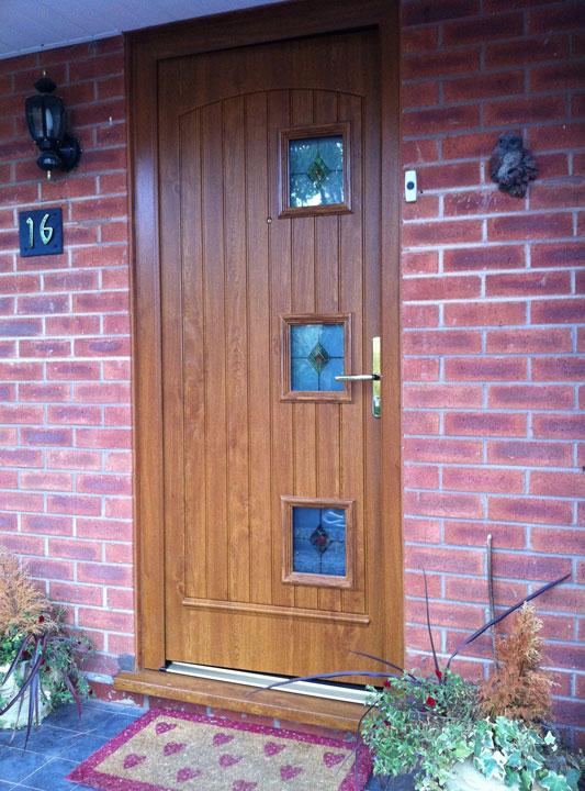 Front Door Brown And Gold 3