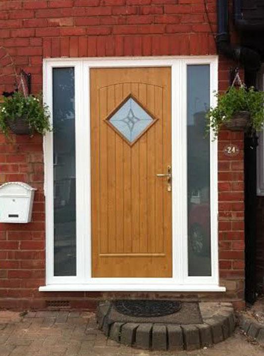 Front Door Brown And Gold 4