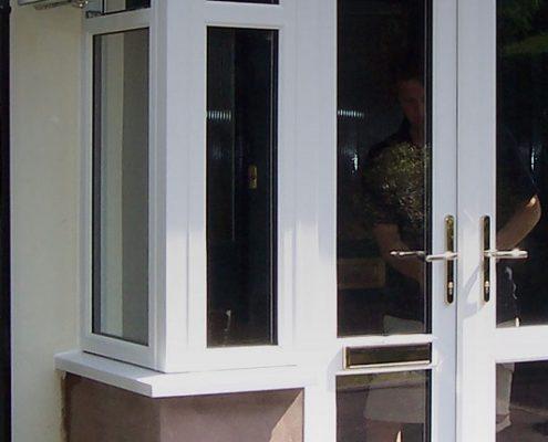 White Block Porch