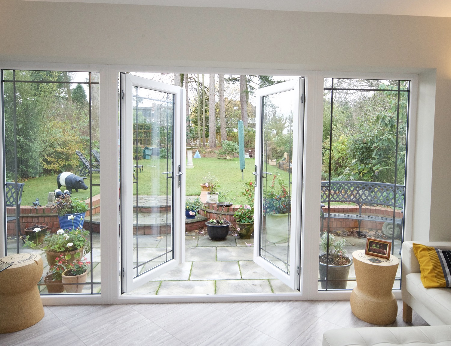 patio french doors double glazed patio and french